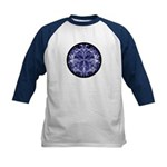 Kids Blue Cirle-in-Circle Baseball Jersey