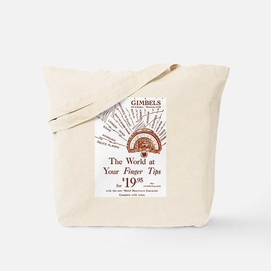 Gimbels Radio Ad Tote Bag