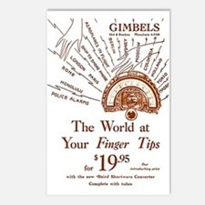 Gimbels Radio Ad Postcards (Package of 8)