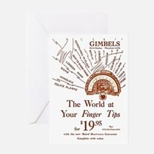 Gimbels Radio Ad Greeting Card