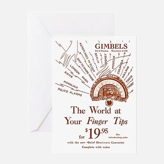 Gimbels Radio Ad Greeting Card