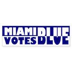Miami Votes Blue (bumper sticker)