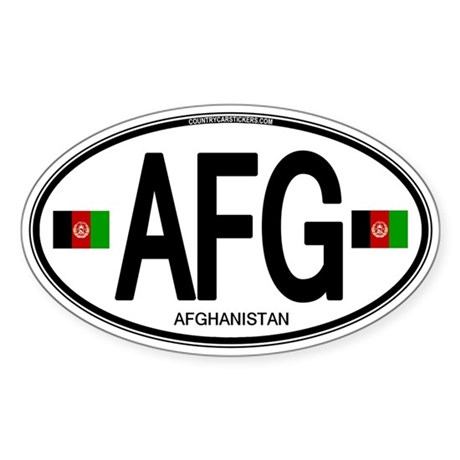 Afghanistan Euro Oval Sticker (Oval)