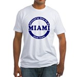 Miami: Blue Town Fitted T-Shirt