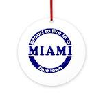 Miami: Blue Town Keepsake (Round)