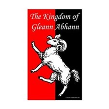 Gleann Abhann Populace Rectangle Sticker