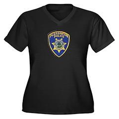Pleasanton Police Women's Plus Size V-Neck Dark T-