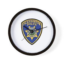 Pleasanton Police Wall Clock