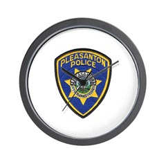 Pleasanton Police Wall Clock