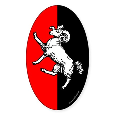 Gleann Abhann Populace Oval Sticker