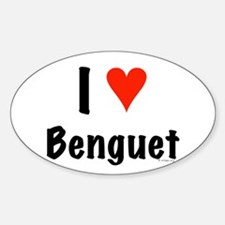 I love Benguet Oval Decal