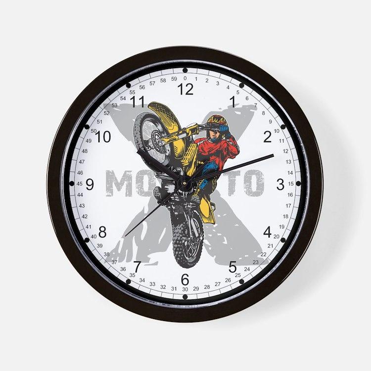 Motorcross Stunt Wall Clock