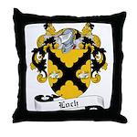 Loch Family Crest Throw Pillow
