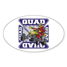 Quad Racer Oval Decal
