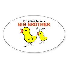 Chicks Big Secret Big Brother Again Oval Decal