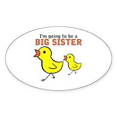 Chicks Big Secret Big Sister Oval Decal