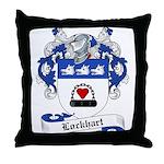 Lockhart Family Crest Throw Pillow