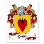 Logan Family Crest Small Poster
