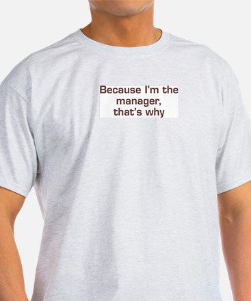 I'm The Manager T-Shirt