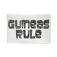 Guineas Rule Rectangle Magnet