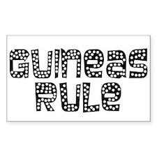 Guineas Rule Rectangle Sticker 10 pk)