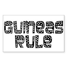 Guineas Rule Rectangle Decal
