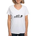Skateboard Evolution Women's V-Neck T-Shirt