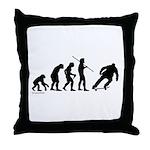 Skateboard Evolution Throw Pillow