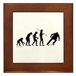 Skateboard Evolution Framed Tile