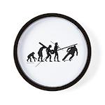 Skateboard Evolution Wall Clock