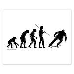 Skateboard Evolution Small Poster