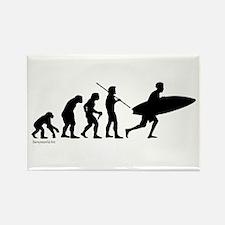 Surfer Evolution Rectangle Magnet (10 pack)