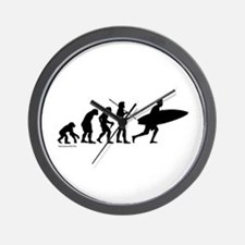 Surfer Evolution Wall Clock