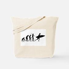 Surfer Evolution Tote Bag
