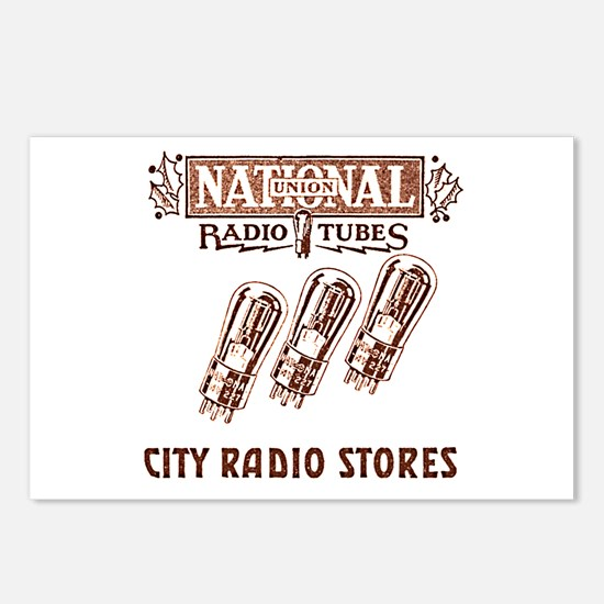 National Radio Tubes Postcards (Package of 8)