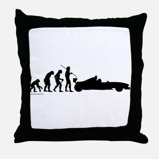 Racer Evolution Throw Pillow