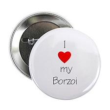I Love My Borzoi Button