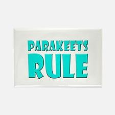 Parakeets Rule Rectangle Magnet