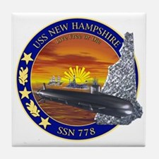 SSN 778 USS New Hampshire Tile Coaster