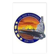 SSN 778 USS New Hampshire Postcards (Package of 8)