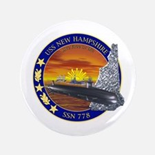 """SSN 778 USS New Hampshire 3.5"""" Button"""