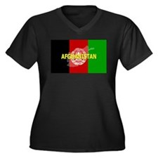 Afghanistan Flag Extra Women's Plus Size V-Neck Da