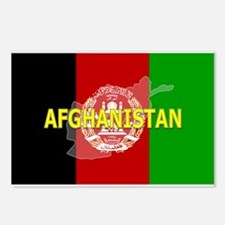Afghanistan Flag Extra Postcards (Package of 8)