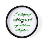PARENTING HUMOR Wall Clock