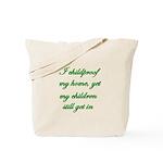 PARENTING HUMOR Tote Bag