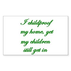 PARENTING HUMOR Rectangle Decal