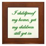 PARENTING HUMOR Framed Tile
