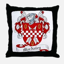 MacAuley Family Crest Throw Pillow
