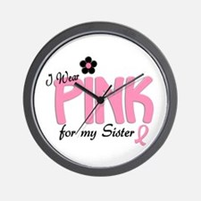 I Wear Pink For My Sister 14 Wall Clock
