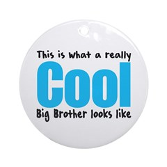 Cool Big Brother Ornament (Round)